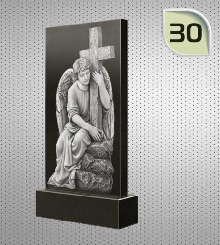 Ангел с большим крестом в руках сидит на камнях - 30
