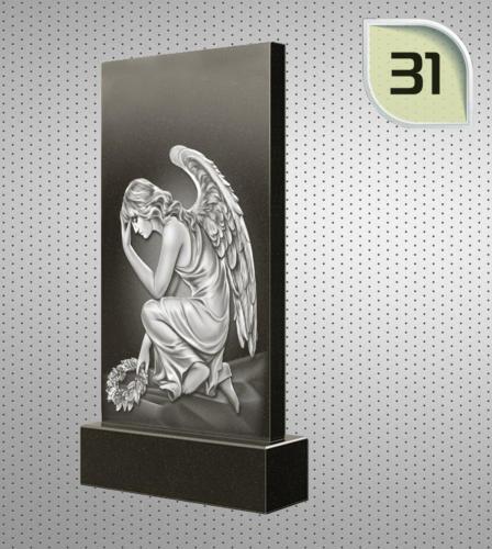 Ангел на коленях, с венком, скорбит - 31